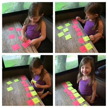 Practicing Letter Recognition